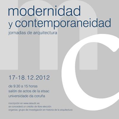 jornadas de arquitectura: modernidad y contemporaneidad