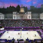 Estadio de voley de Londres 2012. Fotografía de La Vanguardia (02-08-2012)